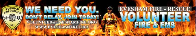 Volunteer recruitment graphic art - We Need You! Don't Delay, Join Today! volunteer@eveshamfire.org